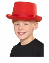Cappello a cilindro rosso per bambini
