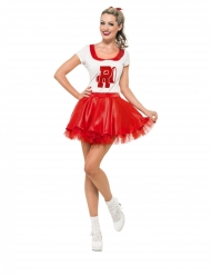 Costume da Grease Cheerleader per donna