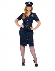 Costume da poliziotta NYC taglie forti per donna