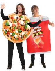 Costume di coppia Pringles e pizza adulto