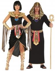 Costume di coppia egiziani in nero adulto