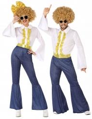 Costume per coppia disco jeans per adulto