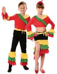 Costume di coppia ballerini di rumba per bambini
