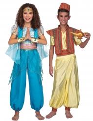 Costume di coppia da principe e principessa orientali per bambini
