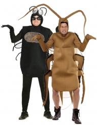 Costume di coppia mosca e scarafaggio adulto