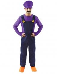 Costume da idraulico viola da uomo