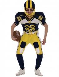 Costume da giocatore di football americano giallo per uomo.