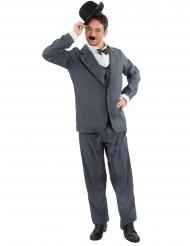 Costume da comico in grigio per uomo