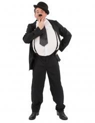 Costume da comico in bianco e nero per uomo