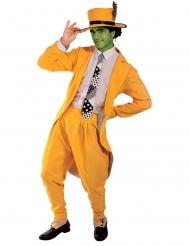 Costume da comico in giallo per adulto