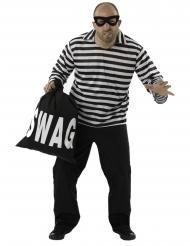 Costume da ladro a righe uomo