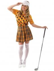 Costume golfista arancione donna