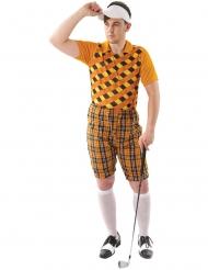 Costume golfista arancione uomo
