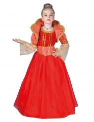 Costume regina rossa bambina