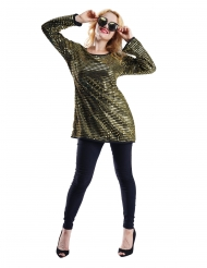 Tunica paillettes oro donna