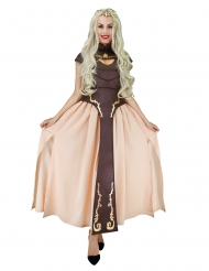 Costume principessa medievale marrone donna