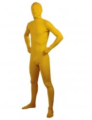 Costume giallo seconda pelle per adulto