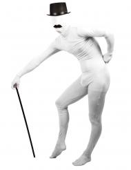 Costume seconda pelle bianco per adulto