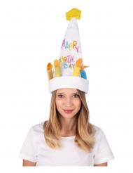Cappello musicale e danzante buon compleanno adulto