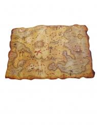 Mappa del tesoro dei pirati plastica 29 x 45 cm