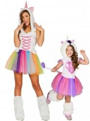 Costume coppia di unicorni Mamma e figlia