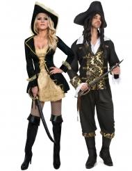 Costume di coppia pirati barocchi per adulti