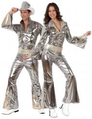 Costume di coppia disco argento per adulti