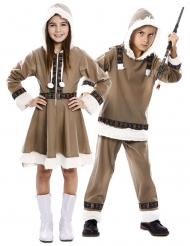 Costume di coppia bambini eschimesi