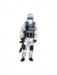 Costume soldato forze speciali della neve bambino