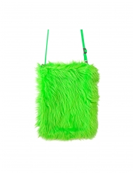 Borsa in pelo verde