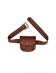 Borsa da cintura medievale finta pelle marrone