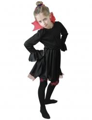 Costume da vampiressa nero con collo rosso bambina