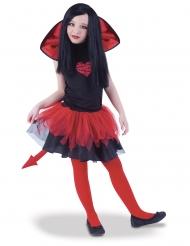 Costume con tutù diavolessa bicolore bambina