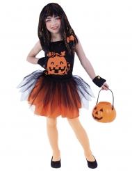 Costume zucca con accessori bambina