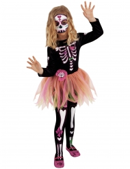 Costume Miss Dia de los Muertos bambina