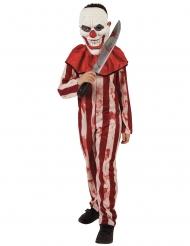 Costume clown a righe rosso e bianco adolescente