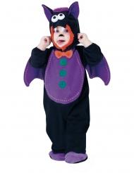Costume pipistrello viola bebè