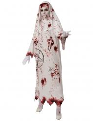 Costume suora bianca insanguinata donna