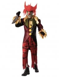 Costume lusso clown pazzo con maschera uomo