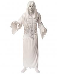 Costume da spettro bianco con maschera per uomo