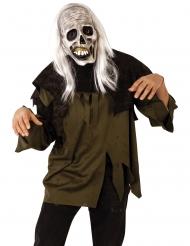 Maschera e parrucca zombie adulto