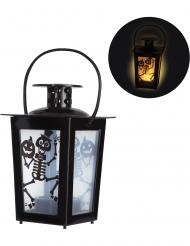 Lanterna luminosa con scheletri