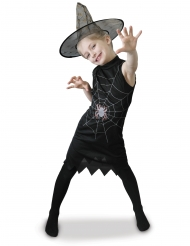 Costume strega con cappello nero bambina