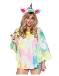 Tunica con cappuccio unicorno donna