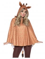 Tunica con cappuccio giraffa adulto
