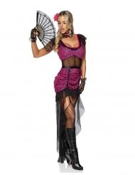 Costume sexy da ragazza del saloon per donna