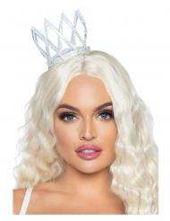 Mini corona argentata donna