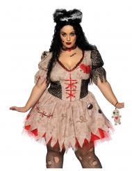 Costume da bambola vudu taglia grande per donna