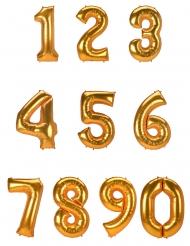 Palloncino a numero alluminio dorato 134 cm