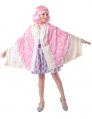 Costume ali di angelo poncho rosa bambina